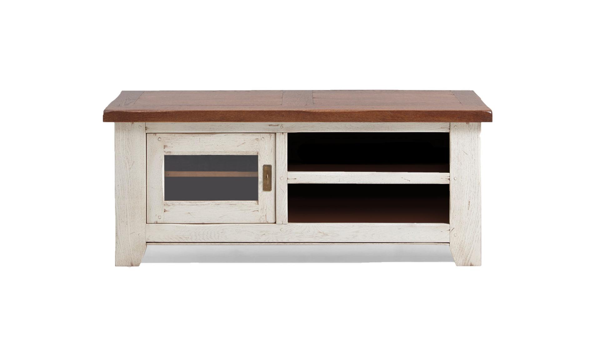 Lowboard Im Landhausstil Als Tv Möbel Ivory Walnussfarbenes
