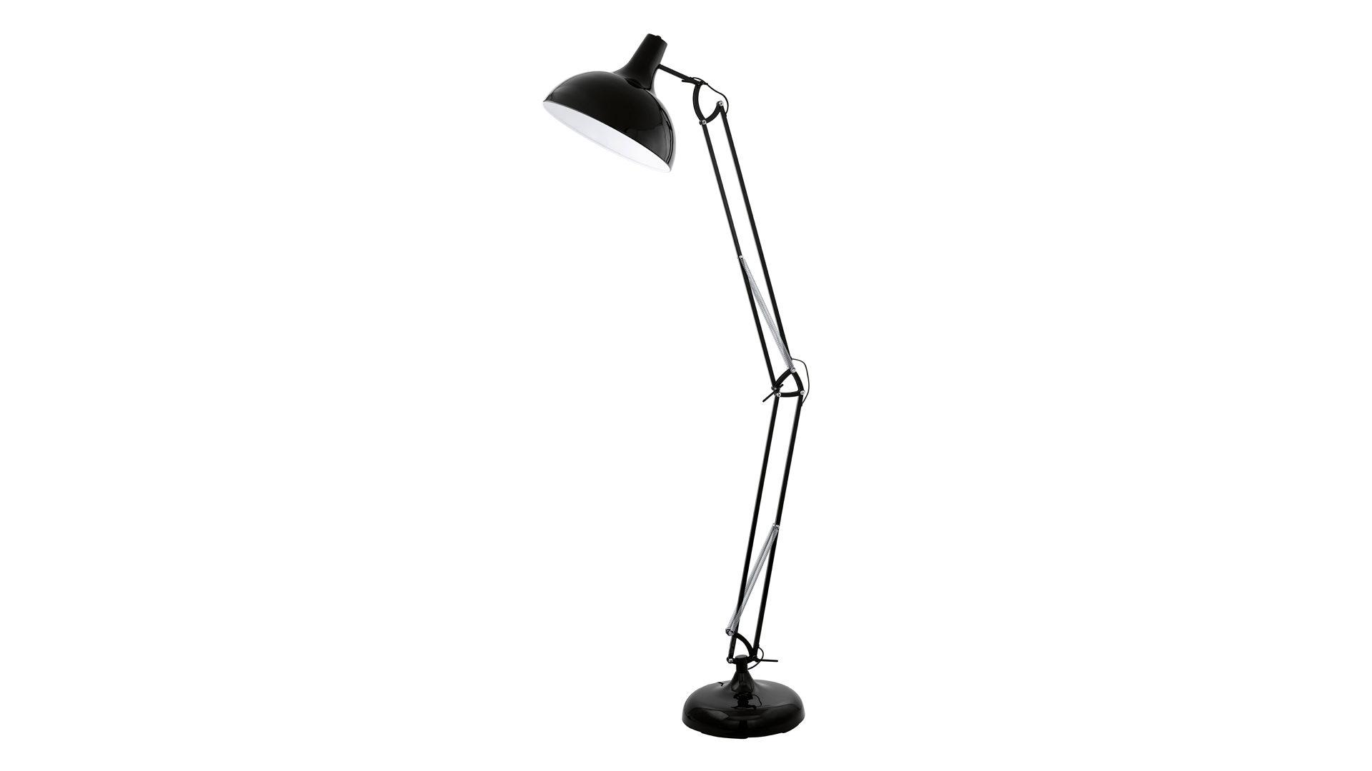 Stehleuchte Borgillio Bzw Stehlampe Schwarzes Metall Hohe Ca