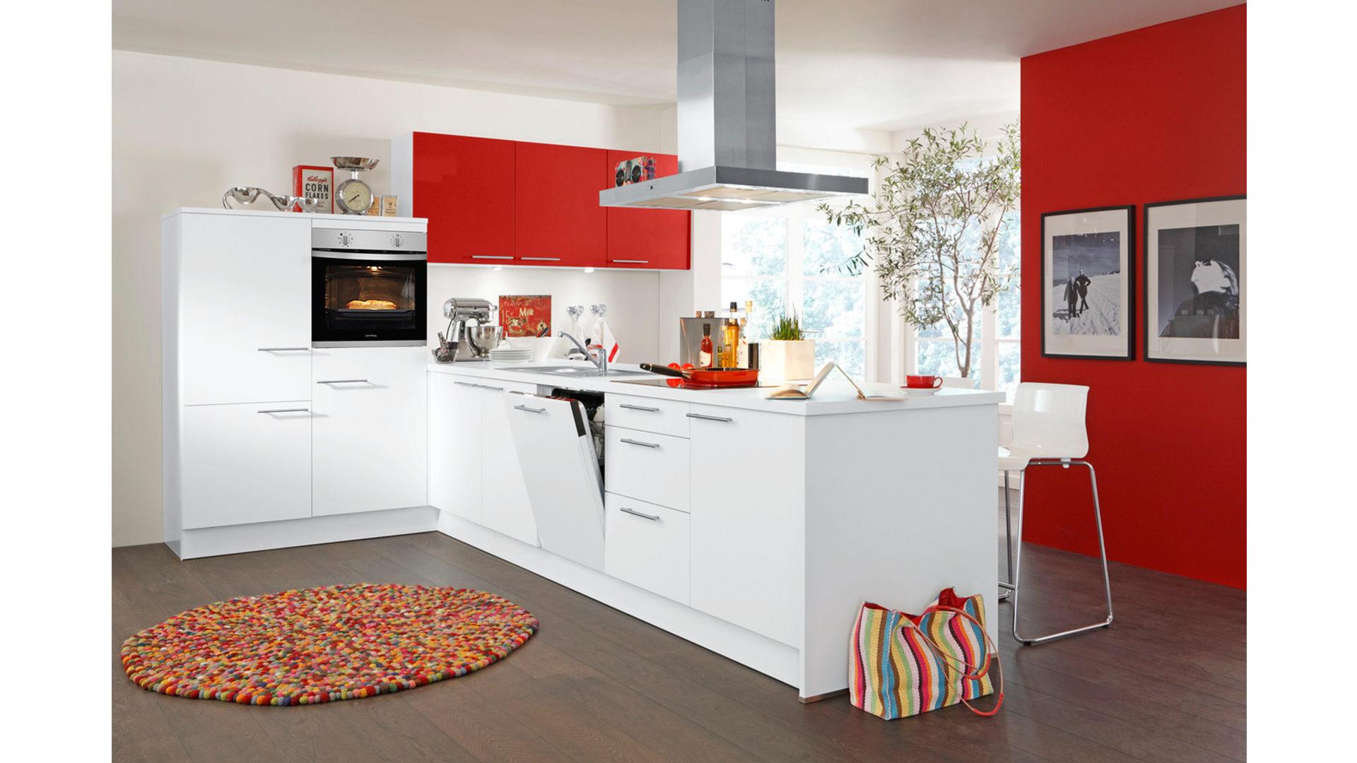 Kühlschrank Rot : Einbauküche mit privileg elektrogeräten wie kühlschrank