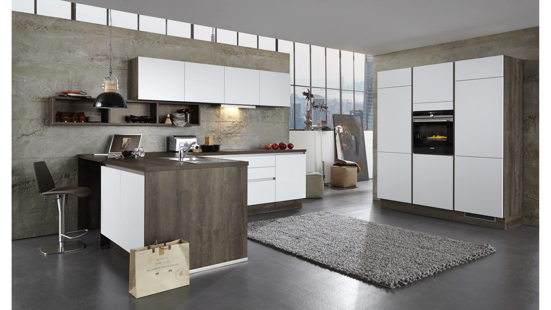 Einbauküche Brigitte Küchen Frickemeier | Culineo Aus Holz In Weiß Culineo L  Küche Mit SIEMENS