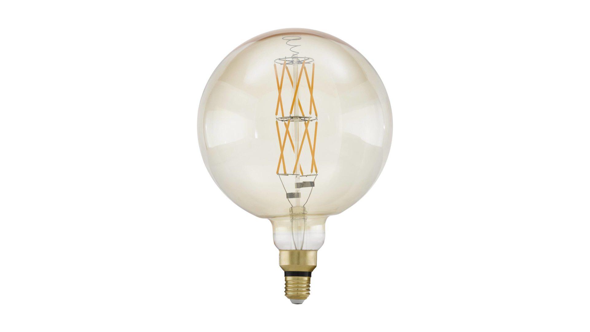 EGLO LED Leuchtmittel, warmweiß & amberfarbenes Glas – Durchmesser ca. 13 cm