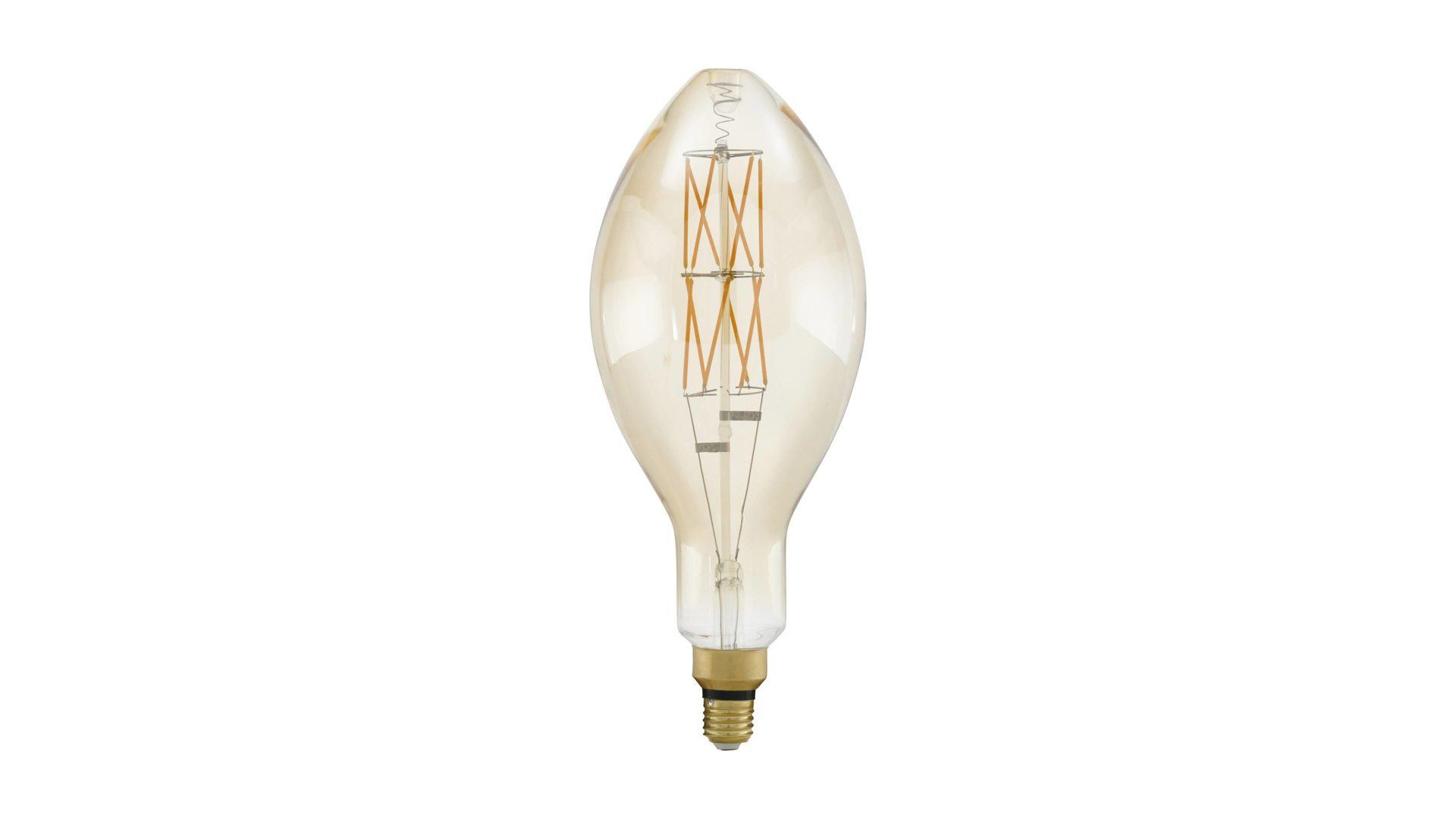 EGLO LED Leuchtmittel, warmweiß & Klarglas – Durchmesser ca. 14 cm