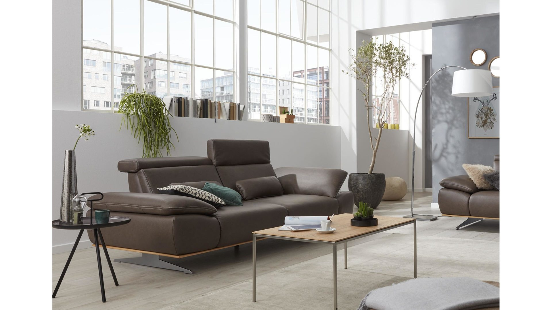 Interliving Sofa Serie 4350 Dreisitzer Braunes Leder Rodeo Goa