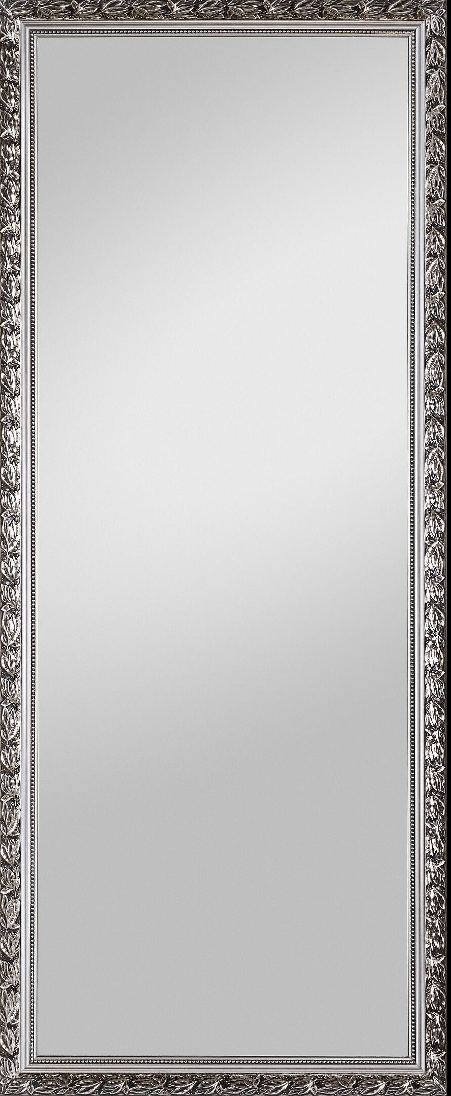 Rahmenspiegel | silberfarbener Holz...