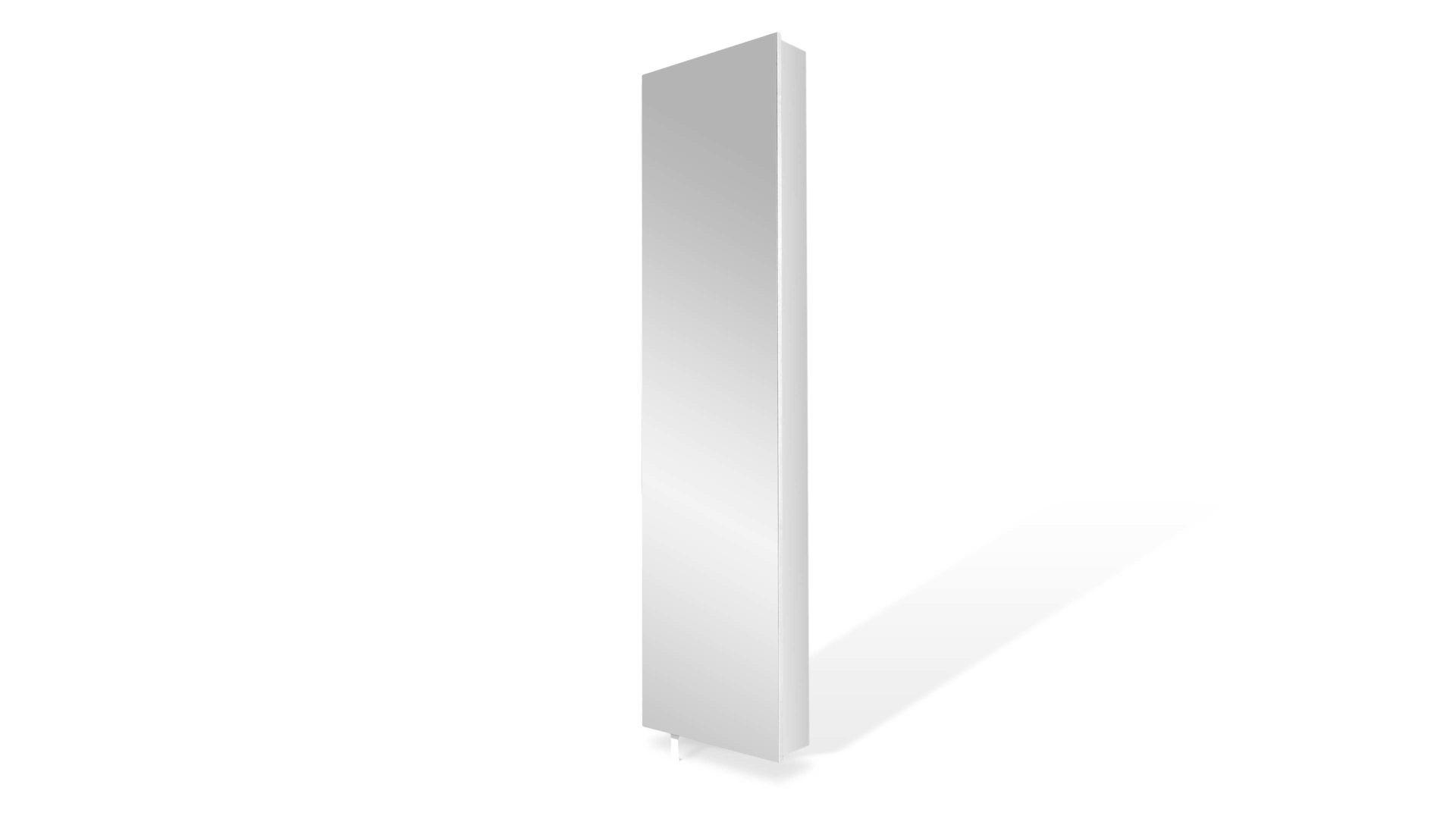 Mehrzweckschrank Bzw Drehschrank Als Stauraumlösung Weiße Kunststoffoberflächen Fünf Fächer Ein Ablageboden Eine Spi