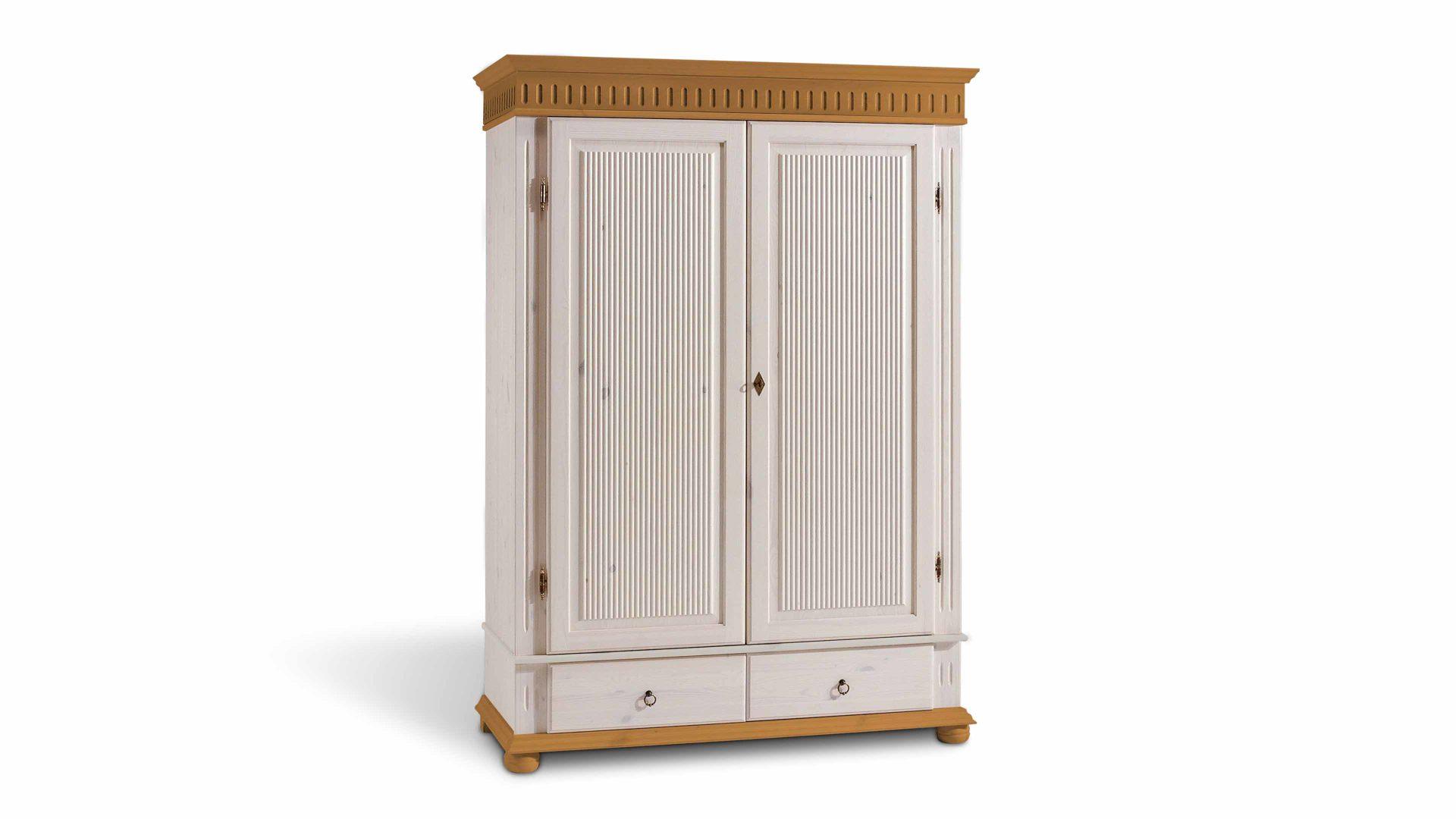 Kleiderschrank holz modern  Kleiderschrank für modern eingerichtete Schlafzimmer, weiß ...