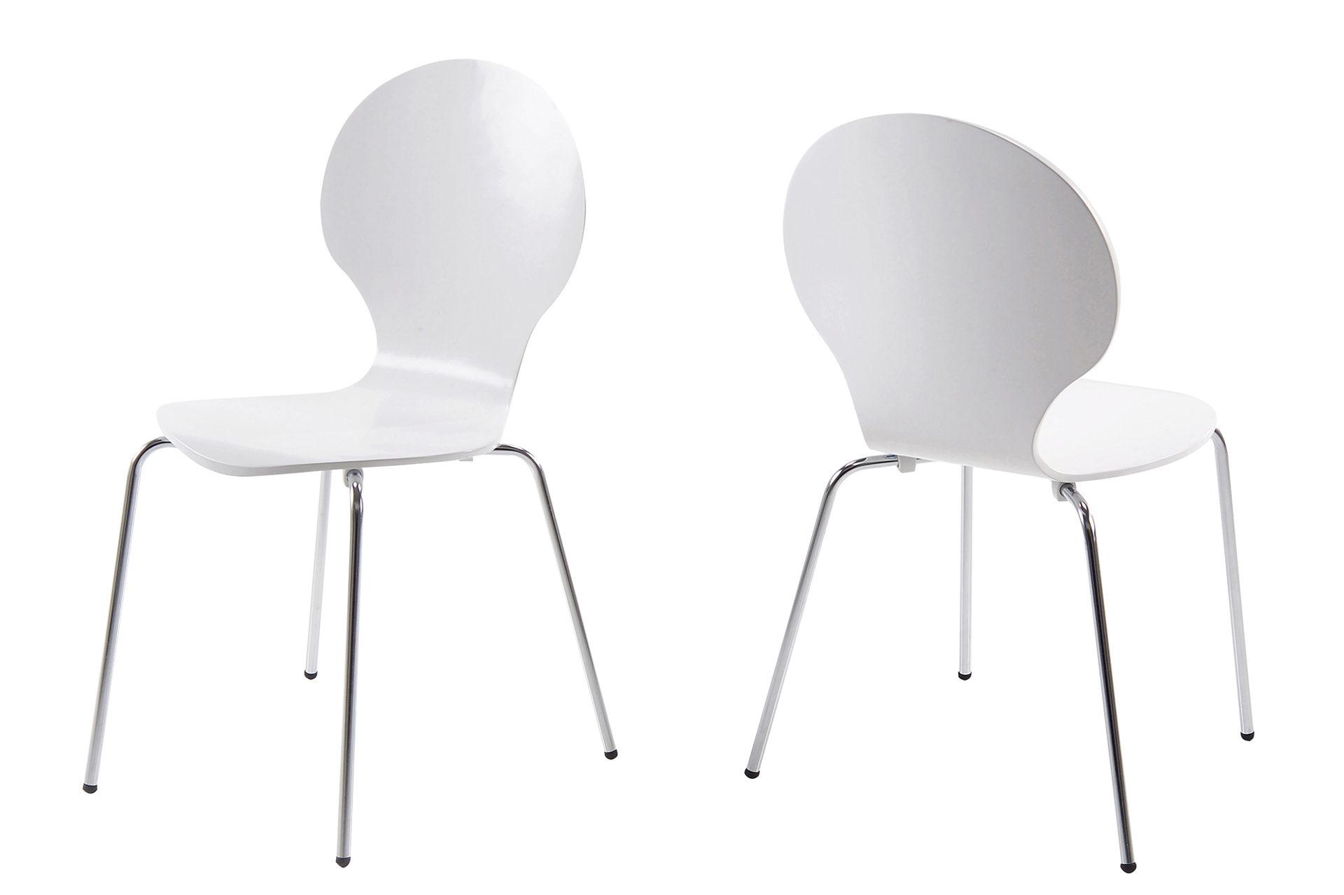 weiße stühle mit metallbeinen
