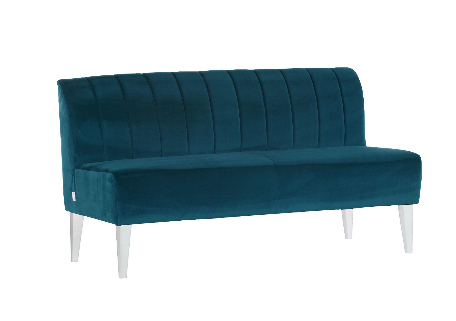 Sofa Im Retro Stil Als Polstermöbel Mit Flair Petrolfarbener Stoff