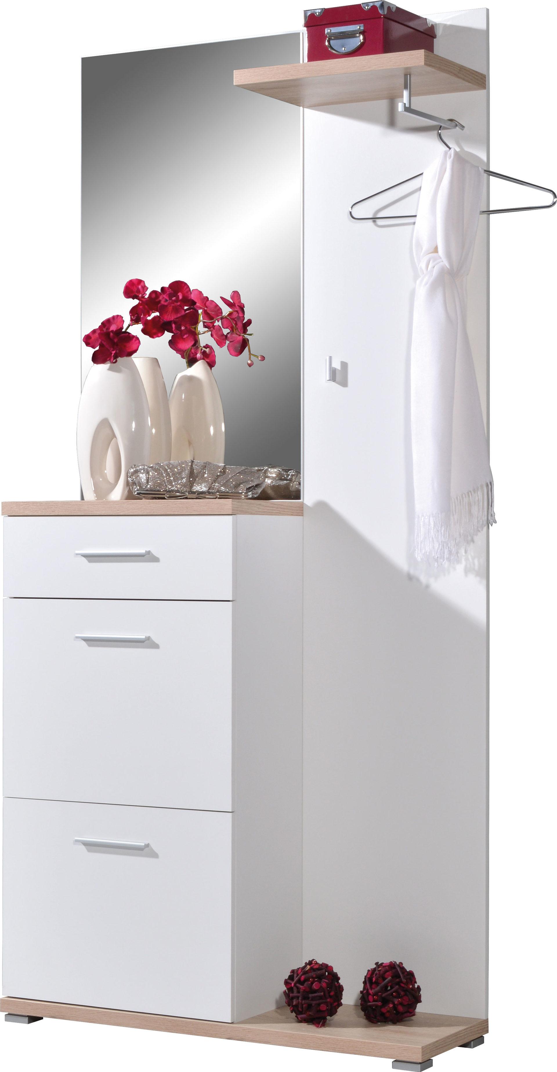 Kompakt Garderobe Inklusive Schuhschrank Sonoma Eichefarbene