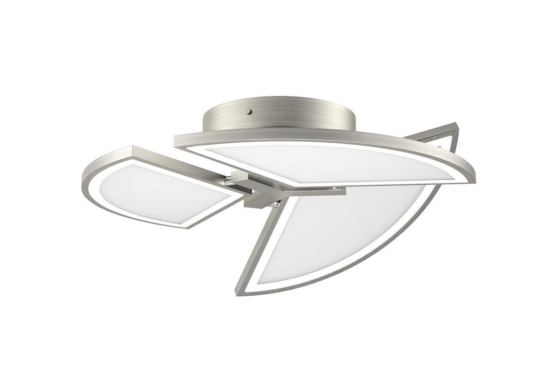 Deckenleuchte Evotec Aus Glas Metall In Metallfarben EVOTEC LED  Deckenleuchte Movil Aluminium U0026 Nickel Gebürstet,