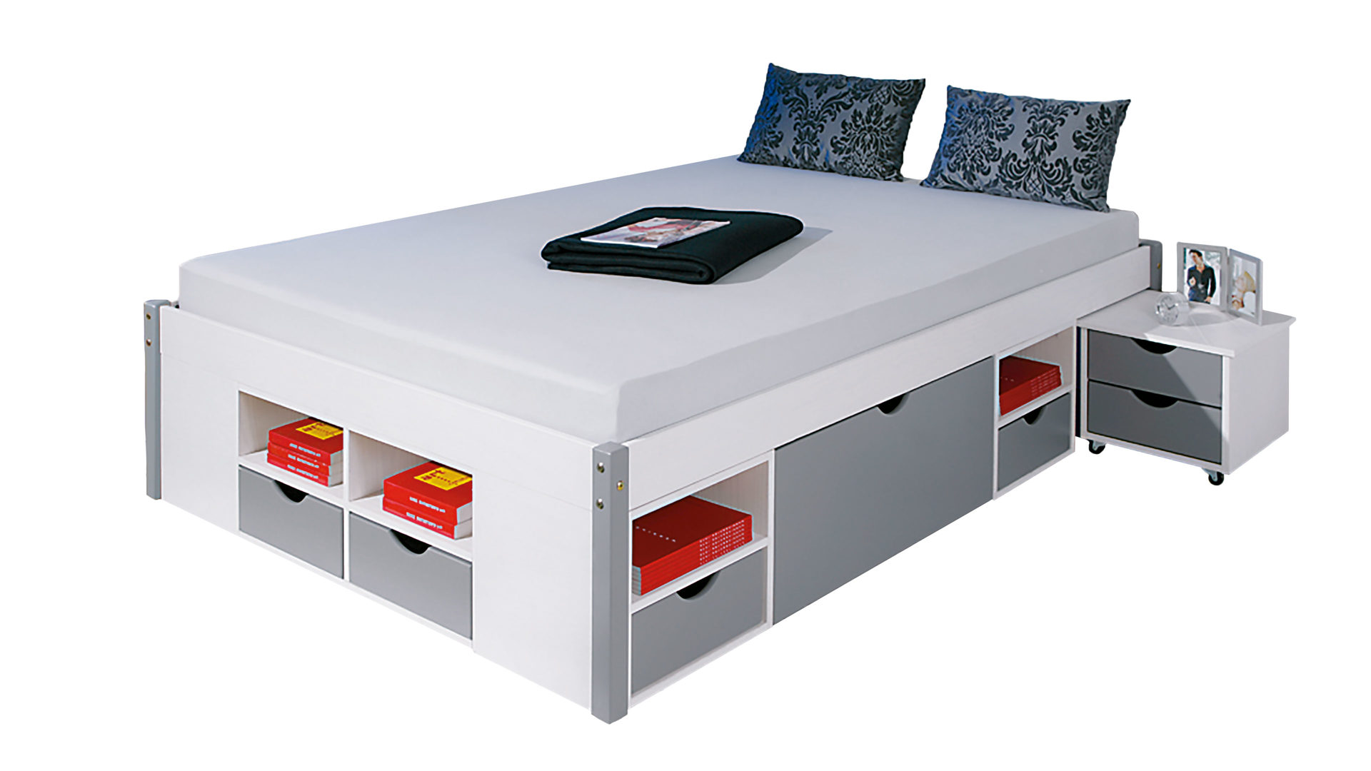 Schubkastenbettgestell Mikar Ein Funktionsbett Inklusive Lattenrost