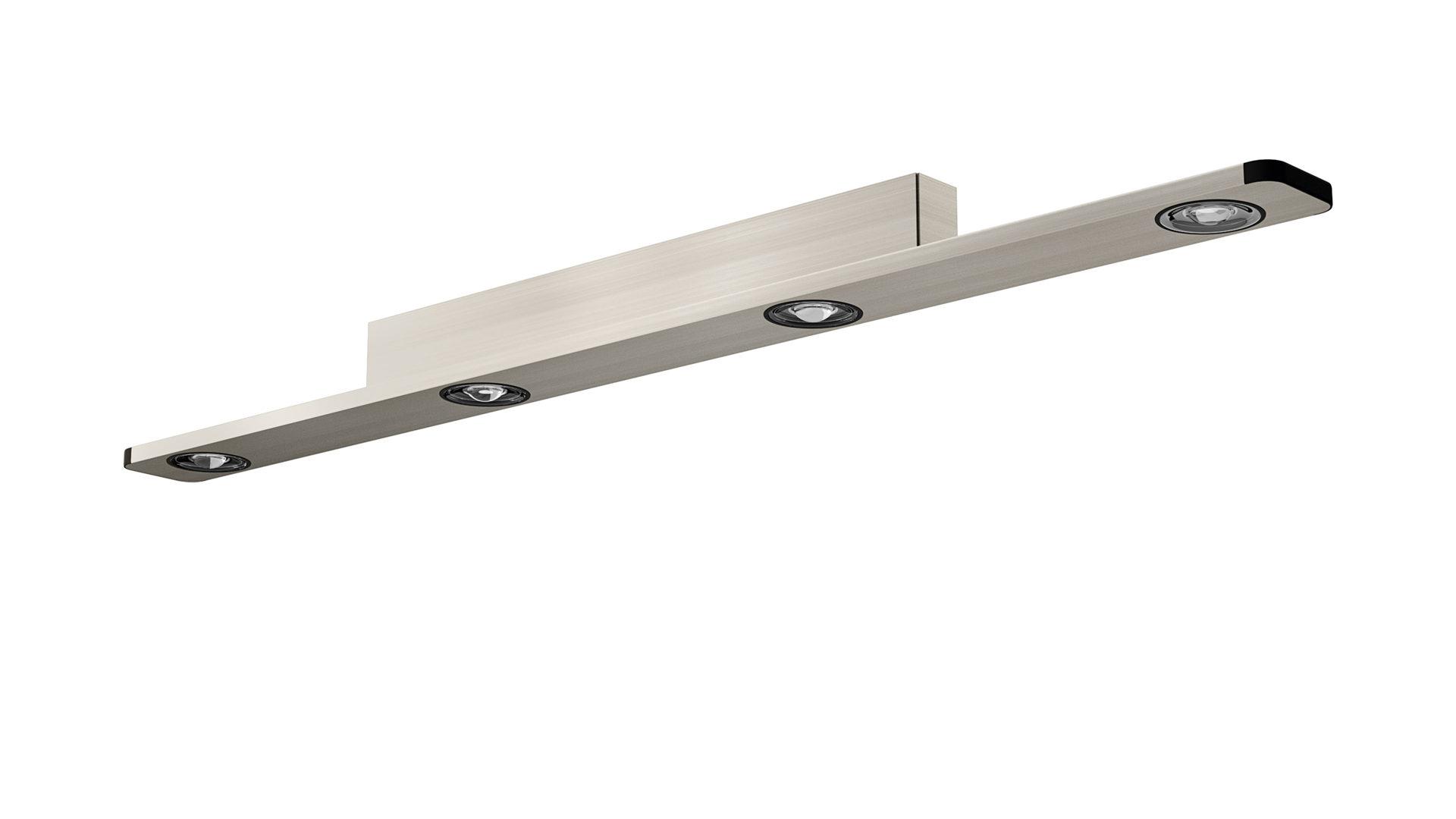 Deckenleuchte Evotec Aus Metall In Metallfarben EVOTEC LED Deckenleuchte  Aluminium U0026 Nickel Gebürstet   Ca