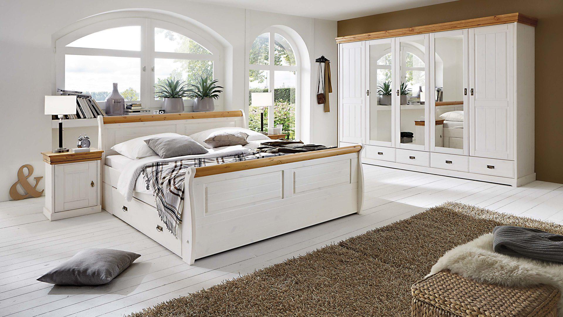 Schlafzimmer Landhaus Weiß Komplett