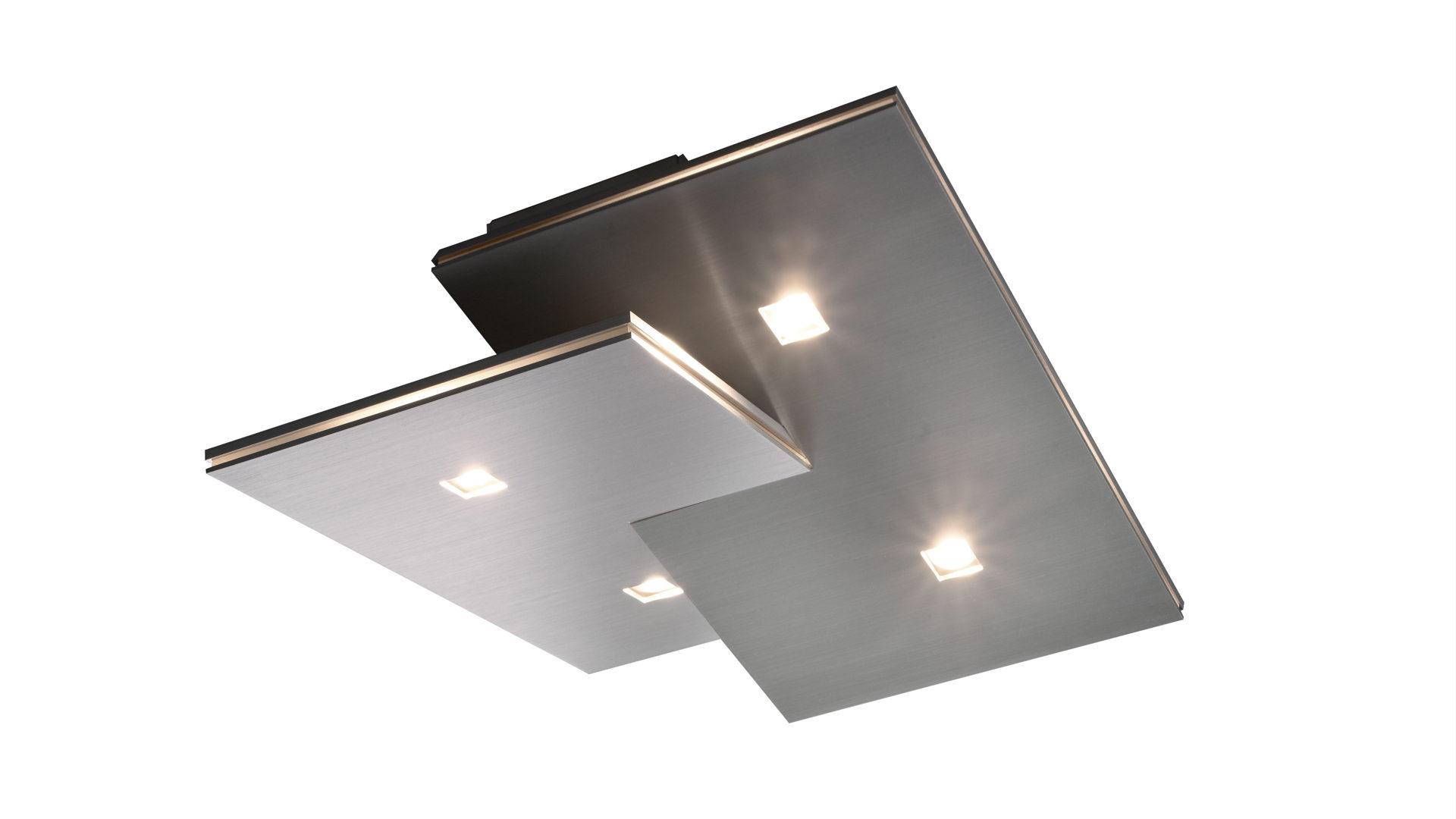 BOPP LED-Deckenleuchte Extra, geschliffenes Aluminium - ca. 30 x 30 ...