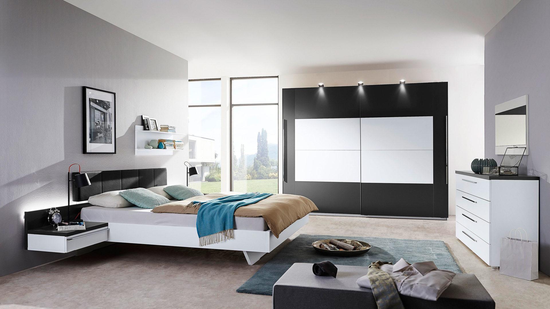 Modernes Rauch Packs Schlafzimmer Mit Schwebeturenschrank
