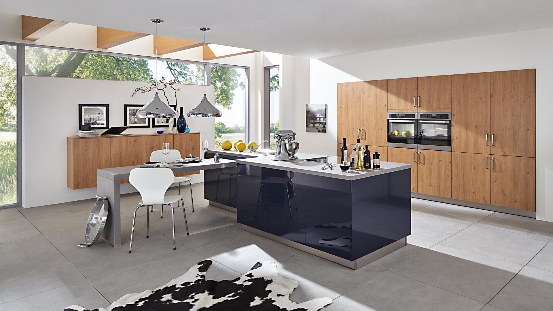 Aeg Kühlschrank Produktnummer : Einbauküche mit aeg elektrogeräten asteichefarbene