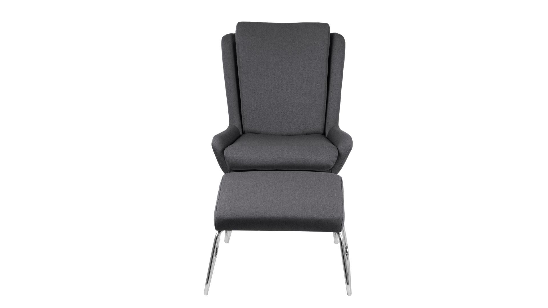 Lounge Sessel Mit Hocker Als Loungemobel Mit Komfort Dunkelgrauer