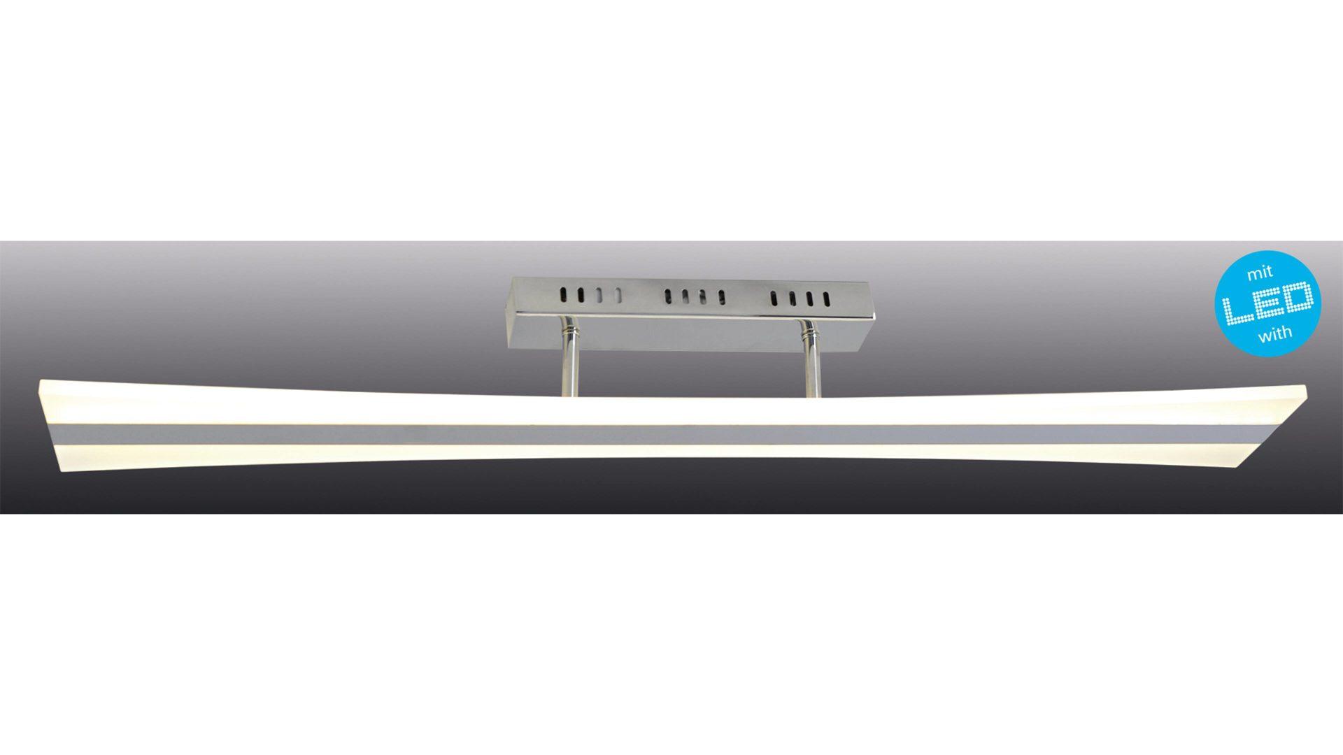 näve LED-Deckenleuchte Barrel, silberfarben – Länge ca. 16 cm