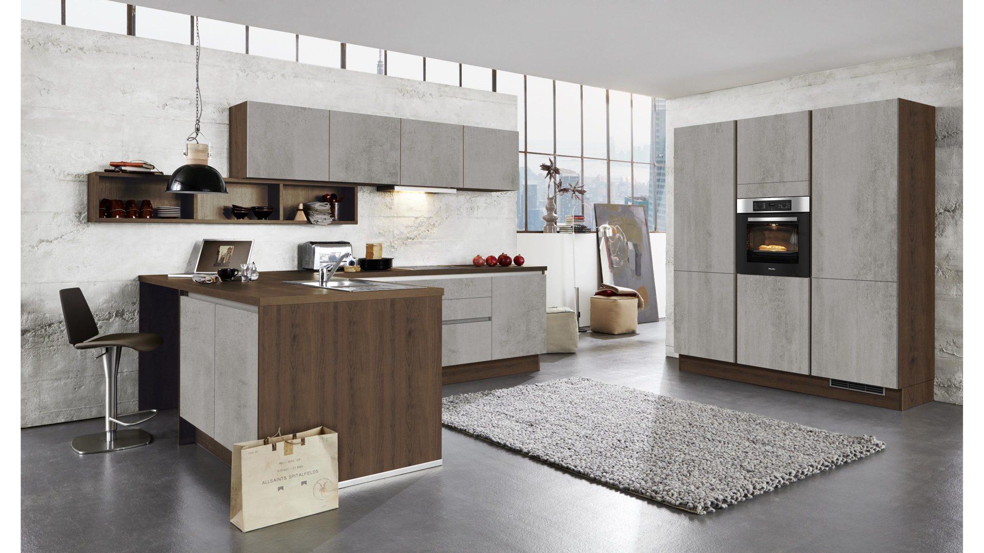 Culineo Küche Mit Siemens Einbaugeräten Beton Perlgraue