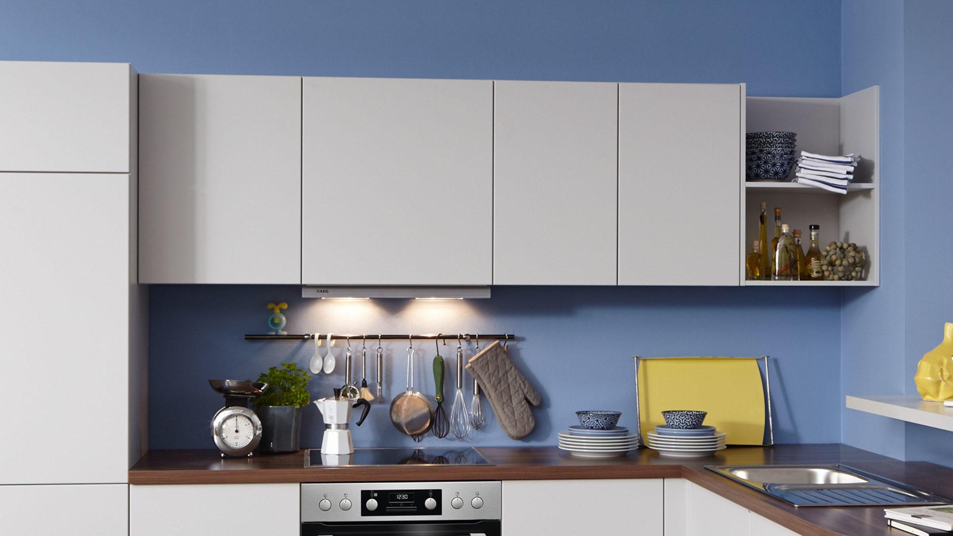WERT-KÜCHE Einbauküche Bionda mit AEG-Elektrogeräten