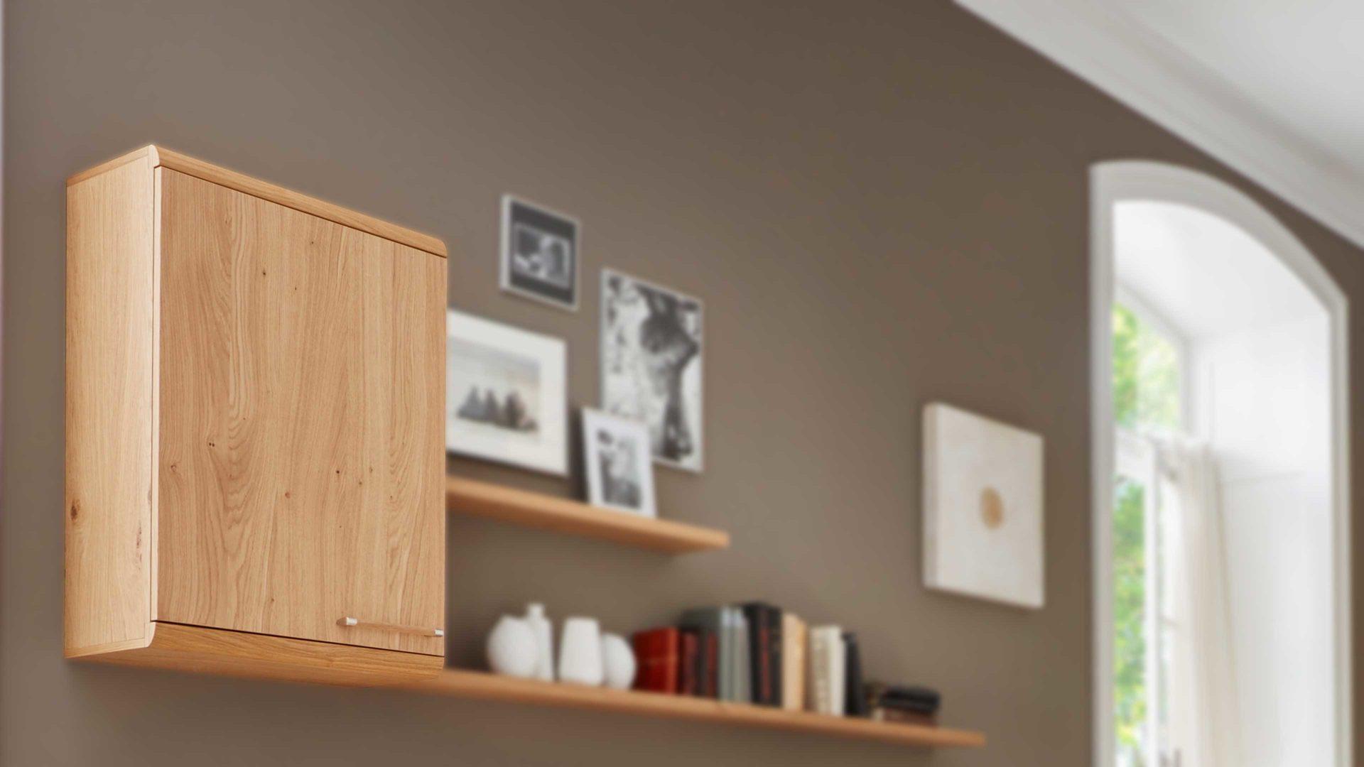 Interliving Schlafzimmer Serie 16 – Hängeschrank 16,  Wildeiche-Echtholzfurnier – eine Tür, rechts