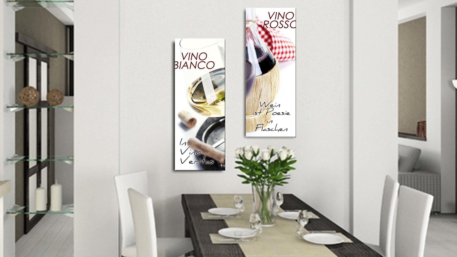 Glasbild Vino Rosso, 4 mm Floatglas mit Motiv - ca. 30 x 80 cm ...