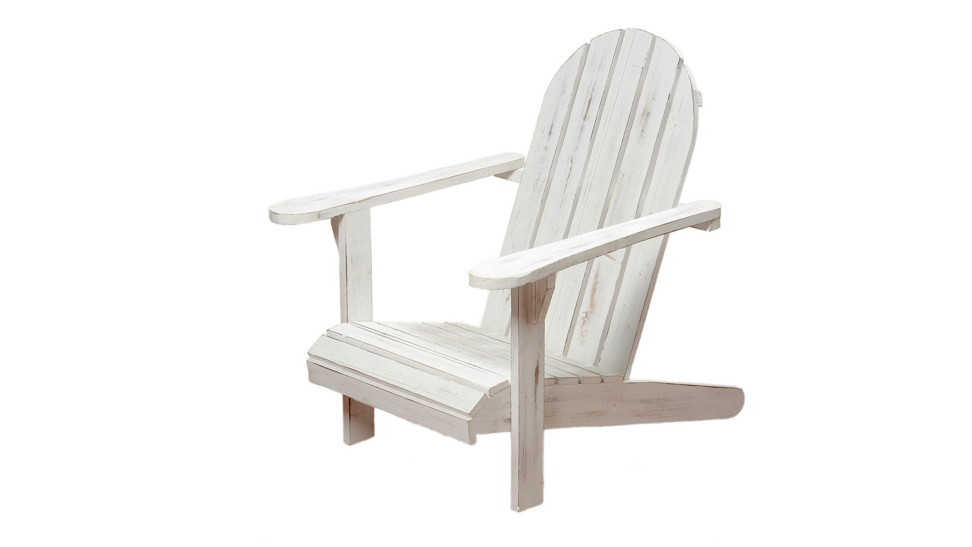Relaxstuhl Jacky als stilvolles Gartenmöbel, weiß lackiertes Holz ...
