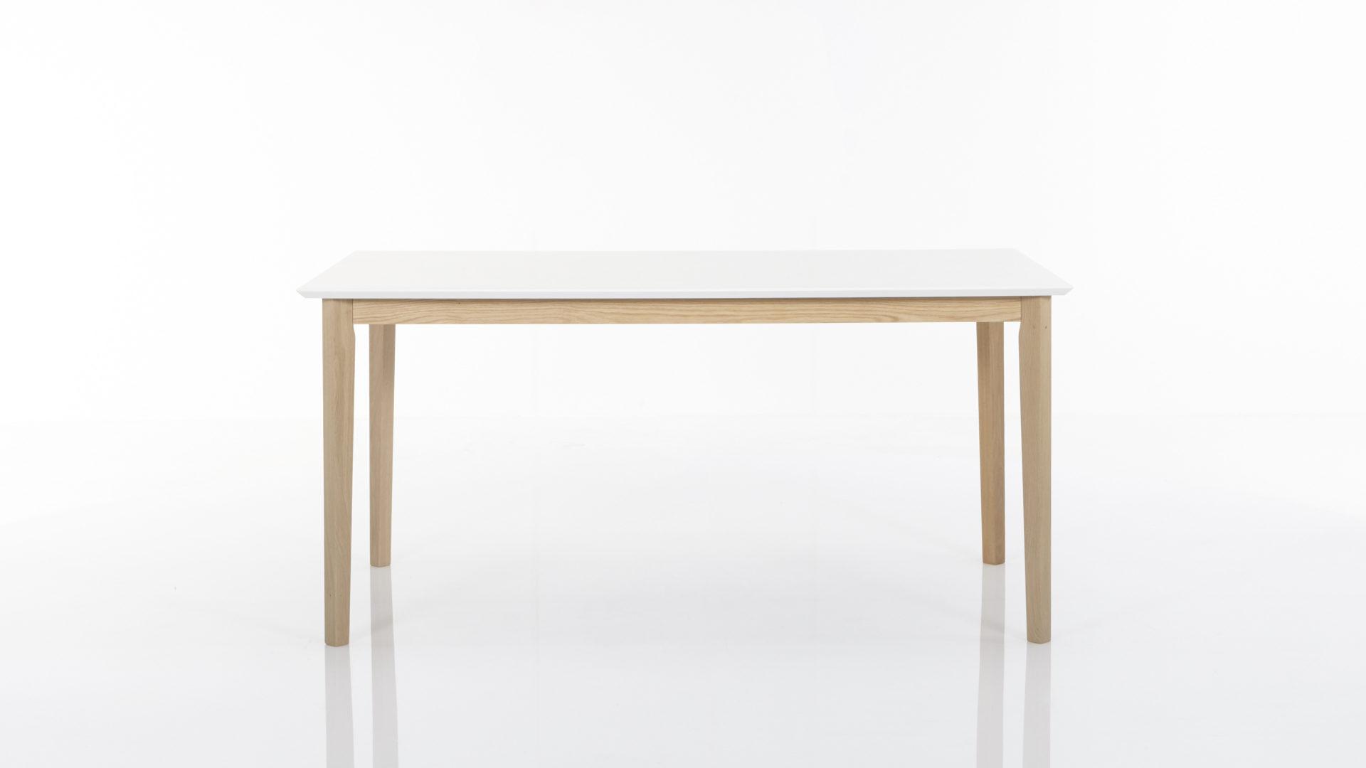 Tisch Esstisch LUCCA 120 x 80 cm Birke massiv weiss