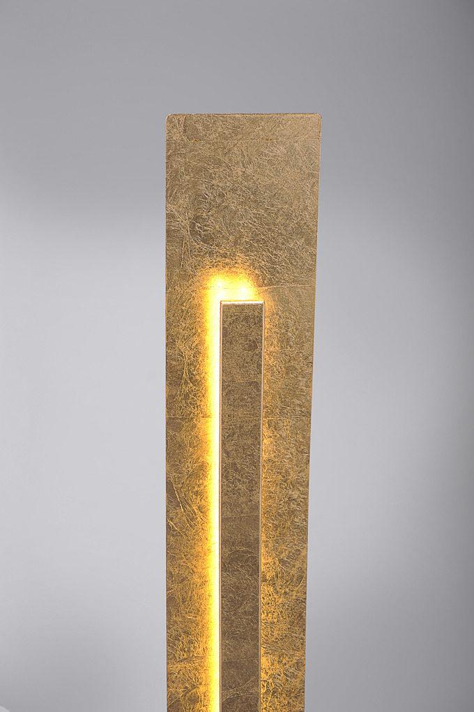 mbel steffens lamstedt rume esszimmer lampen leuchten paul neuhaus led stehleuchte nevis in goldfarben paul neuhaus led stehleuchte nevis - Esszimmer Lampen Led